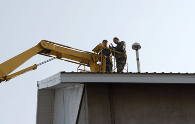 Установка антенны базовой станции